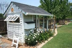 Chicken Coop Idea from backyardchickens.com - love the look of this one.