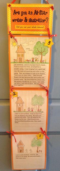 Cool visual writing rubric for kids.
