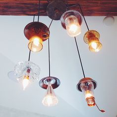 tea cup/ice cream glass chandelier.