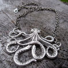 Silver Octo Necklace