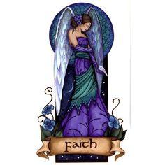 Angel Virtues Faith Vinyl Sticker