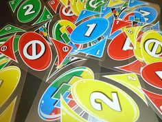 Uno game for singing time