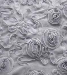 David Tutera Fabric- Chiffon Ribbon Grey & special occasion fabric at Joann.com