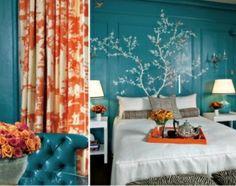 Turquoise and Orange....