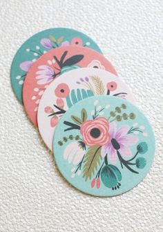 decor, colors, art, botan coaster, papers, coaster set, floral, design, thing