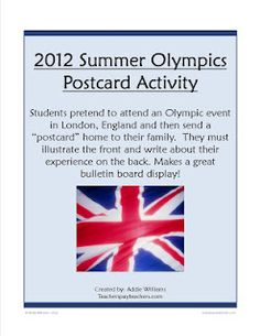 The 2012 Summer Olympics Activities and Freebie