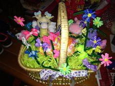 Baby girl garden basket