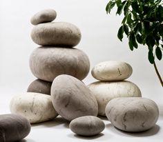 felted rocks.