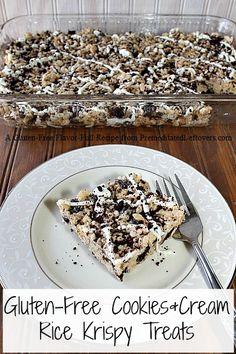 gluten-free cookies and cream rice krispie treats
