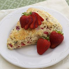 Basil Strawberry Scones