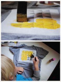 Great idea for customizing T-shirts.