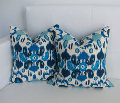 CLOSING SALE  Blue Pillow Covers  Dorm Pillow Covers by skoopehome, $25.00