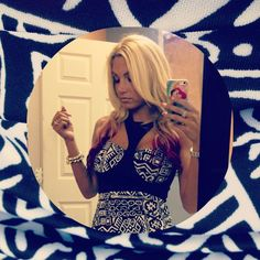 Jackie's tribal print dress is hot hot HOT! #Jerseylicious