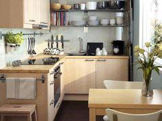 Decoración de cocina en pequeños espacios.