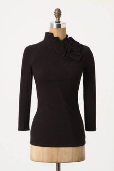 ruffled demi turtleneck from anthropologie - $68.00