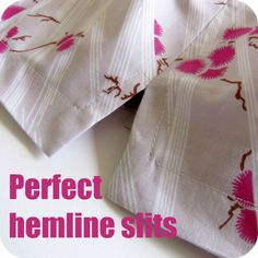 Tutorial : Sewing perfect hemline slits