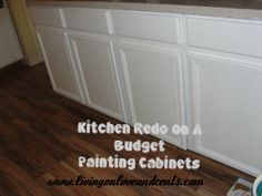 How to paint cabinets! Cheap way to update your kitchen!