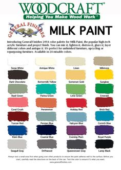 All the Milk Paint Colors from General Finishes at your local Woodcraft store and online.