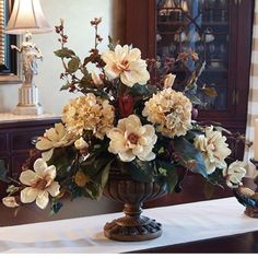 Magnolia silk flower arrangement