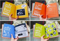 Make a book for each child with their birth story