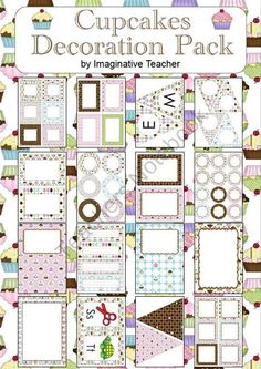 Decoration Pack - Cupcakes theme from Imaginative Teacher on TeachersNotebook.com (91 pages)  - Creating a gorgeous looking classroom whilst sticking with your theme is now easier than ever! This Decoration Pack is a combination of various sized labels and pages to compliment your theme without going 'over the top'. Everything you need to decorate i