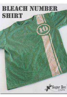 boy craft idea - - make a shirt using BLEACH - this is awesome