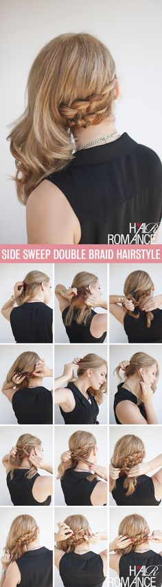 The compromise hairstyle – half up and half out braid tutorial / Tutoriel coiffure : la double tresse