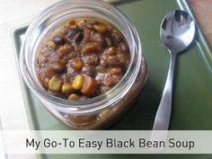 Go-To Easy Black Bean Soup