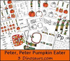Free Peter, Peter Pumpkin Eater Pack - 3Dinosaurs.com
