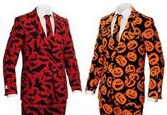 Pumpking and Bat Guy Halloween Suits