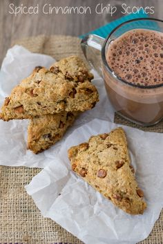 Spiced Cinnamon Chip Scones | crazyforcrust.com |