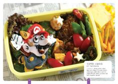 bento box, foods, cartoon characters, lunch boxes, supermario