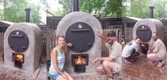 Check out this blog.  Finished oven.  This was our very first fire to cure the brick.  BEYOND excited!  The entire process took 1 month and 10 days to complete.