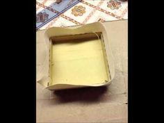 TUTORIAL Rivestire una scatola con tessuto - YouTube di ANTONELLA VAIA