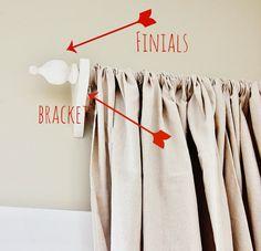 diy curtain rod ideas, diy finial, decorative curtain rods, curtain rod diy, curtain lengths, diy curtain finials, custom curtains, curtain rods diy, diy window curtain