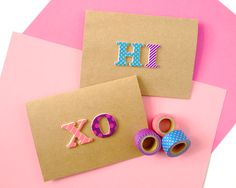 Omiyage Blogs: DIY Pop Letters Washi Tape Cards