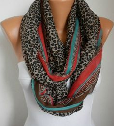 love this infiniti scarf! just ordered one :) Leopard  Infinity Scarf Shawl Circle Scarf  Loop  Scarf by anils, $19.00