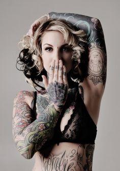tattoo women, dream bodies, strike a pose, art, body mods, sleeve tattoos, tattoo photography, tattoo ink, black roses