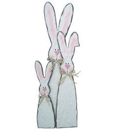 so cute wooden bunnies