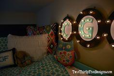 DIY Illuminated Letters