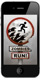 What better motivator to run than Zombies chasing you? I have this app! It's really fun, but be prepared for a super workout. When the zombies start chasing you, you practically have to sprint to get away! So much fun! (Downside: you WILL get strange looks from people when you break from a slow jog into a run for your life sprint!)