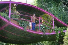 Garden designer Diarmuid Gavins Irish Sky Garden at The Chelsea Flower Show.