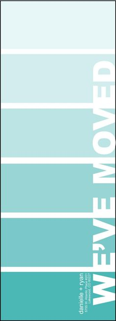 We've Moved Paint Swatch (etsy item)