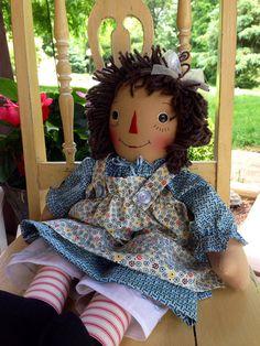 Handmade Raggedy Ann Doll by dollsfromtheloft on Etsy