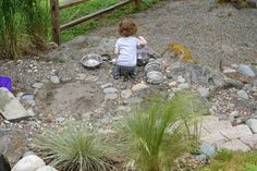 Natural Rock Play Space and Outdoor Kitchen | FUN AT HOME WITH KIDS