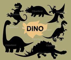 INSTANT DOWNLOAD Dino silhouette von clipartland auf Etsy, $3.99