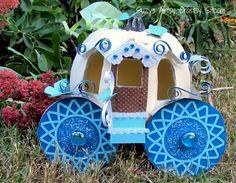 David Tutera Pumpkin Carriage/Suzys Artsy Craftsy Sitcom #paper crafts #diy