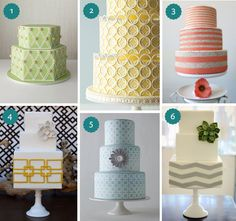 Geometric Wedding Cakes Round-Up via Pearls for Paper