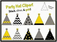 Party hats clipart- new years clip art