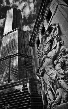 Chicago ~ Michigan Ave. Bridge and Trump Tower